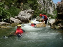 Canyoning and rafting family holiday