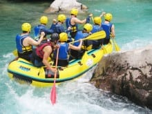 White water rafting in Slovenia