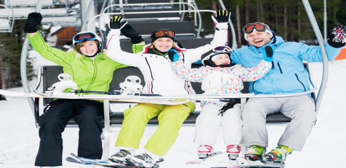half term ski holiday for families