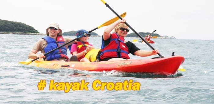 Croatia sea kayaking family holiday