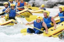 family rafting holiday