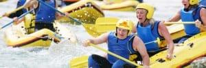 family rafting holiday