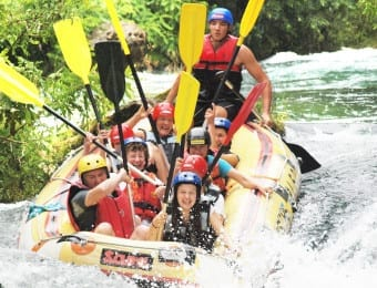 water rafting on the Cetina river Croatia